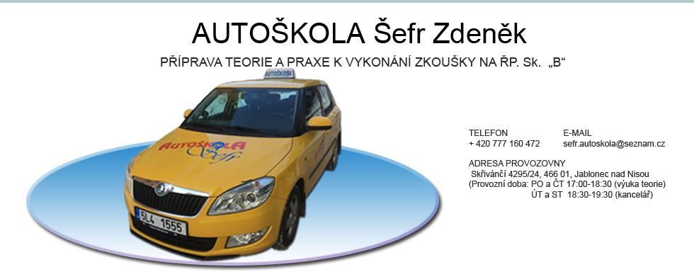 Autoškola - Šefr Zdeněk - Jablonec nad Nisou